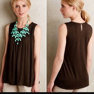 Anthropologie Dolan women S smocked tank top